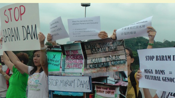 Protest in Kuala Lumpur against the Murum and Baram Dam